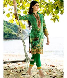 Tanzaib Kurti Shalwar Collection 2016 by Shaista Textiles D_109