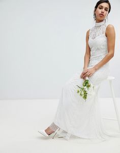 Amelia Rose | Amelia Rose All Over Embelished Maxi Dress