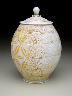 Adam Field's lidded vessel. Field showed us his studio located in Durango, Colorado, in our June/July/August 2011 issue of Ceramics Monthly. http://ceramicartsdaily.org/ceramics-monthly/ceramics-monthly-junejulyaugust-2011/