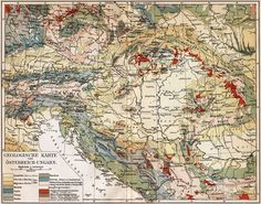 Geologic map of the Austro-Hungarian Monarchy