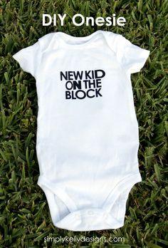 DIY New Kid On The Block Onesie by Simply Kelly Designs #NKOTB
