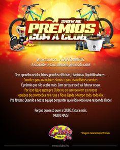 A sua Clube te dá os melhores prêmios do rádio!
