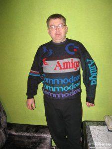 Pan Waldemar Czajkowski w swoim słynnym swetrze!