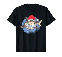 Shark Santa Claus Christmas Lights Funny Gift Idea T-Shirt Christmas Tee Shirts, Geile T-shirts, Shark T Shirt, Christmas Lights, Christmas Christmas, Branded T Shirts, Funny Gifts, Cool T Shirts, Fashion Brands