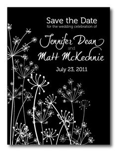100 Dandylion Save the Date Postcards by CCOinc on Etsy, $70.00