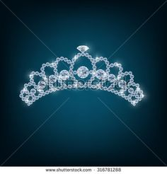 Crown with concepts from diamonds. vector