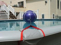 Pool-Tree Winter Cover support system for above ground oval pools