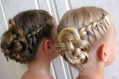 Best Picture For junior bridesmaid hair short For Your Taste You are looking for som Communion Hairstyles, Dance Hairstyles, Flower Girl Hairstyles, Little Girl Hairstyles, Loose Hairstyles, Formal Hairstyles, Braided Hairstyles, Wedding Hairstyles, Bridesmaid Hair Curly