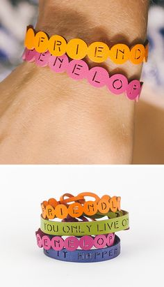 Sweetly personalized leather bracelets are meant for your BFF.