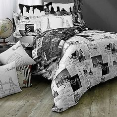 Paris/New York/London set from Bed Bath and Beyond have this and love it #collegelife