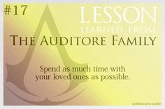 Assassin's Creed Life Lessons from The Auditore Family