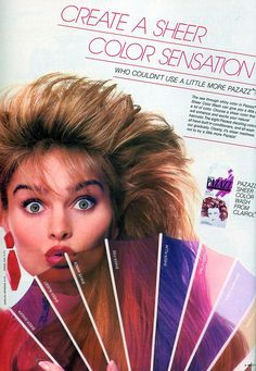 1988 Seventeen Magazine - I loved this hair tint!