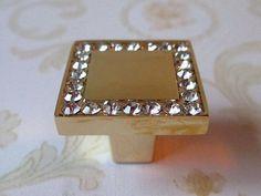 glas dressoir knoppen/kristal kast knoppen trekt vierkante goud helder/moderne lade knoppen trekt handgrepen/keuken knop pull(China (Mainland))