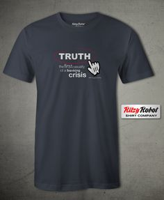 "Mens ""Truth in a Banking Crisis"" Crew Neck T-Shirt Banking Crisis, Neck T Shirt, Crew Neck, Mens Tops, Products, Collar Pattern, Beauty Products, Boat Neck"