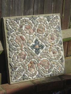 Pebble mosaic paver