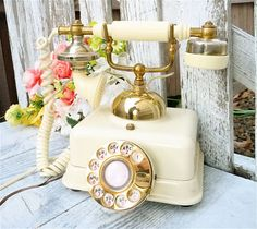 Shabby Chic Rotary Phone French / Victorian by HuckleberryVntg, $59.00