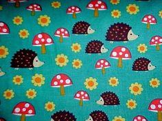 By 1//2 Yard Michael Miller Fabric Hedgehog Heaven Luna Aqua Blue ~ Fantasy Woods