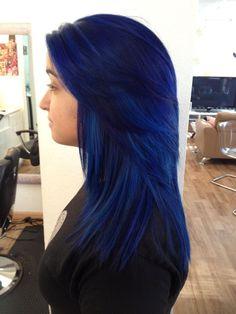 Pre lightened + Pravana blue