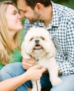 Engagement Photos with Dogs | Ali Harper Photography | blog.theknot.com