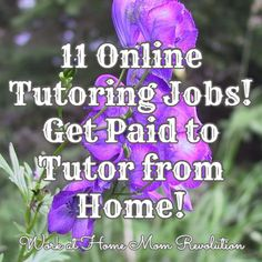 11 Online Tutoring Jobs! Get Paid to Tutor from Home! / Work at Home Mom Revolution