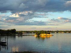 Entardecer em Riverside, Greenwich, Connecticut, USA.