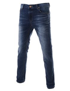 Slim Fit Straight Low Rise Stretchy LEJ1549-darkblue