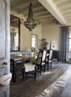 Verdigris Vie | Rustic Refined Farmhouse wood floors...