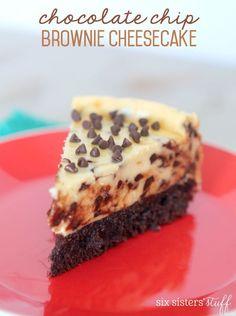 Chocolate Chip Brownie Cheesecake Recipe – Six Sisters' Stuff