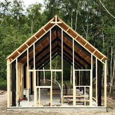 #barnhousecabin #barn #cabin #cabinporn #cabinbuild #camp #camping #campvibes #cabininthewoods #tinyhome #tinyhouse #tinyhousebuild #construction #intothewoods #farm #cottage #lodge #cabinjournal #quietplace #framing