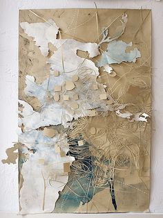 """Val Britton - our ongoing excavation. 2006; Ink, pencil, collage and cut-out on paper; 34"""" x 43"""""""