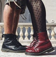 The 1460 boot in black and cherry red, shared by vahessa_p