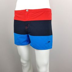 33ff4b3e49421 Vintage 90s Mens XL Color Block Summer Swimming Swim Trunks Shorts  Multi-Color | eBay