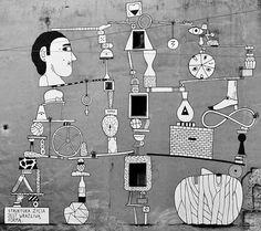Struktura życia jest wrażliwą formą. Mural Wrocław