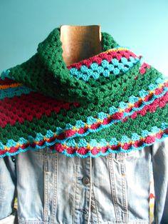 Faz bem aos olhos   Crochet - Crafts - Lifestyle: Xaile (folk) Novo