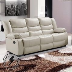 Cream Leather Sofa 8303 Reclining Sectional Sofa in Cream Bonded Leather w\/Options Choosing A Contemporary Leather Sofa In the recent yea. Cream Leather Sofa, Grey Leather Sectional, Leather Recliner, Leather Fabric, Sofa U Form, Sofas, Couches, Contemporary Leather Sofa, Sofa Couch