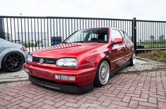 Candy Apple red MK3 Volkswagen Group, Vw, Golf Mk1, Red Candy, Custom Cars, Race Cars, Euro, German, Wheels
