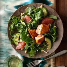 We're nowhere near over this glowing salmon salad with avocado and grapefruit. Fully of healthy omega-3 fats and blood sugar-stabilizing citrus. | Health.com