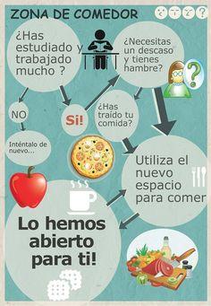 Hemos habilitado una zona para poder comer en la Biblioteca Central de Cáceres !Pregunta por ella!