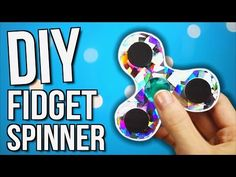 How to make a fidget spinner from school supplies! DIY fidget spinner without bearings! - YouTube