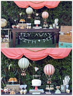 how adorable is this sweets table with its hot air balloon wedding theme?! ~  we ❤ this! moncheribridals.com