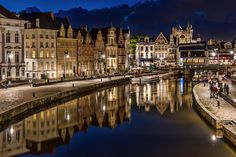Gent by night by trygonis on 500px