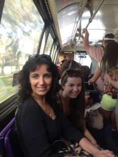 On the Disney Bus heading to the Magic Kingdom with my Sister and my Niece who live in Florida who I travel to meet up with every year!
