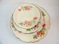 this was my mother's china pattern when I was a little girl in the I now have one of these plates displayed on a plate display rack in my living room along with some gorgeous Haviland Limoges pieces. China Display, Plate Display, Display Easel, Shabby Chic Antiques, Shabby Chic Cottage, Antique China, Vintage China, Fancy Dishes, Plate Racks