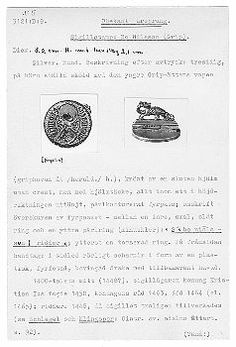 1448 Silver seal of Bo Nielsson Grip Inventory number 3121:B:9 Statens Historiska Museet SHM 2003-03-01