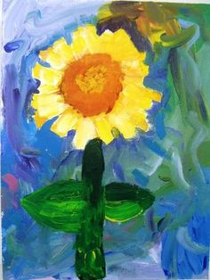 fourth grade child's acrylic painting