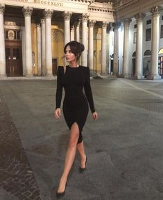18 Outfits With Black Bodycon Dresses Elegant Outfit, Classy Dress, Classy Outfits, Elegant Dresses, Chic Outfits, Cute Dresses, Sexy Dresses, Night Out Outfit Classy, Little Black Dress Classy