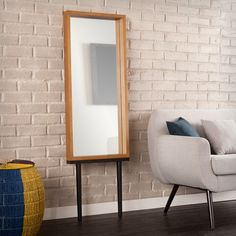 Holly & Martin Sawa Leaning Mirror