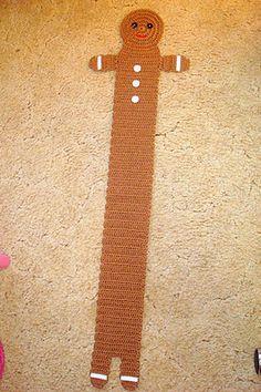 Crochet Scarfs Gingerbread Boy Scarf Pattern :: Bake (or Make!) A Dozen Free Knit Or Crochet, Crochet Scarves, Crochet For Kids, Crochet Shawl, Crochet Crafts, Crochet Clothes, Free Crochet, Crochet Kids Scarf, Simply Crochet