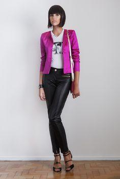 #gverri #gverristore #inverno2013 #casaqueto #shantung #rosa #pink #calça #couro  #preto #moda #fashion