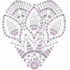 World crochet: Napkin 574 Crochet Doily Diagram, Crochet Doily Patterns, Crochet Chart, Filet Crochet, Crochet Motif, Crochet Designs, Crochet Coaster, Crochet Dollies, Crochet Buttons